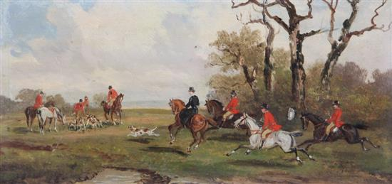 This hunting scene by Rudolf Stone (19th/20thC.)  sold for £360 in March