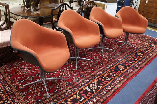 A set of 4 1960s la Fonda chairs designed by Charles and Ray Eames for Herman Miller