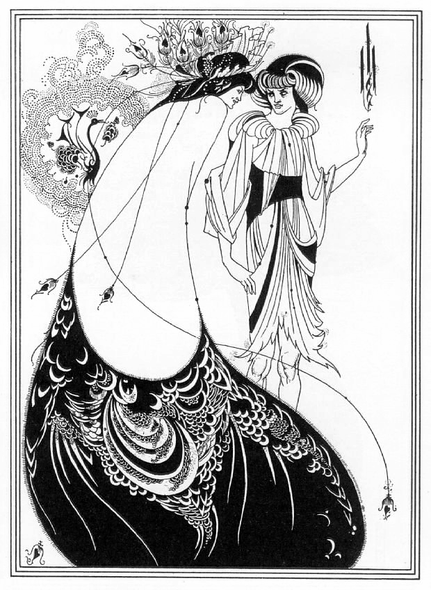 Aubrey Vincent Beardsley. Peacock Skirt. 1893.