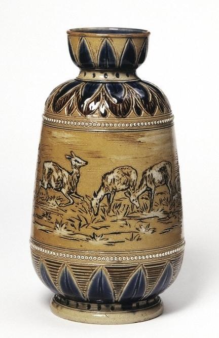 Royal Doulton vase incised and painted by Hannah Barlow