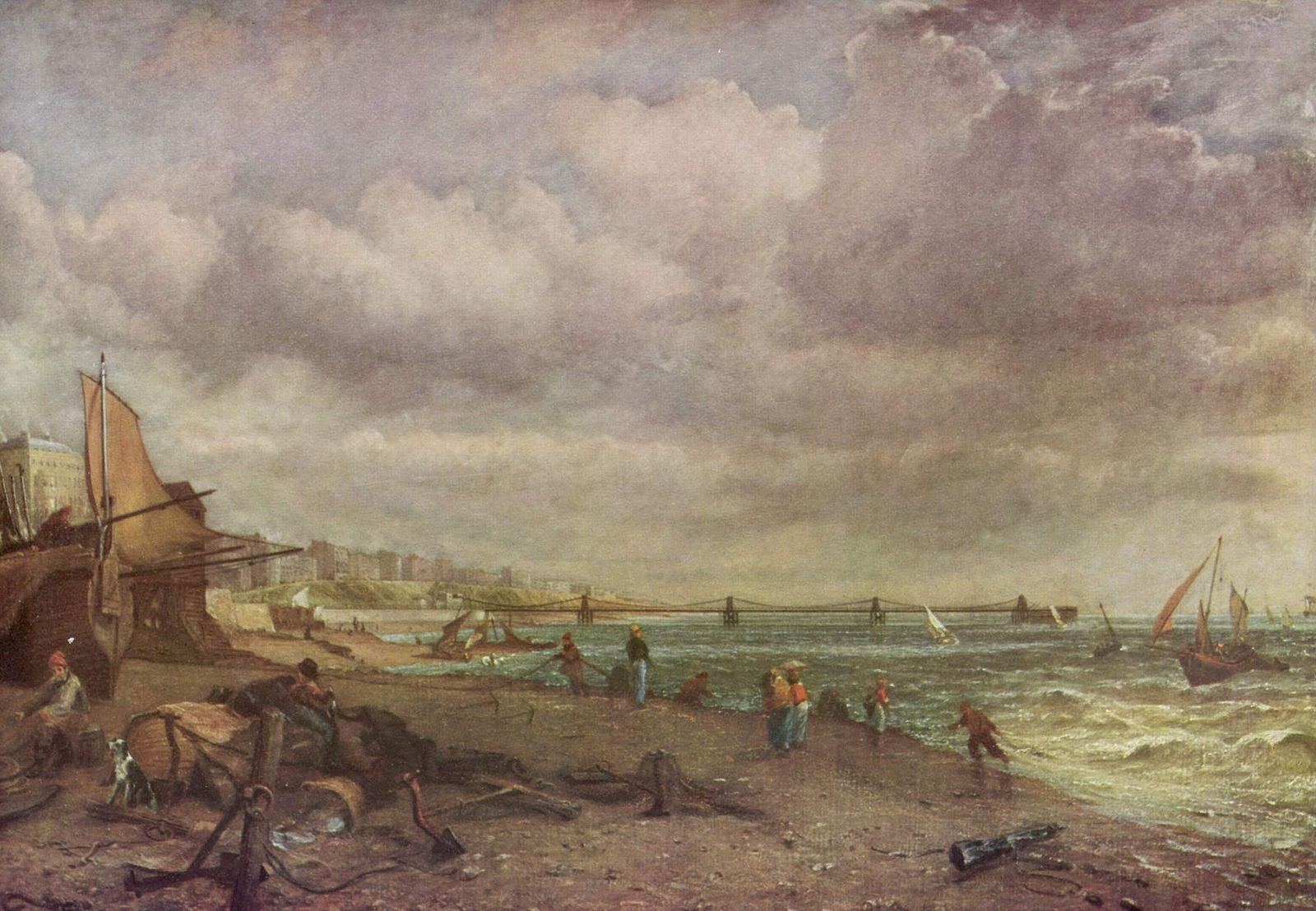 John Constable. The Chain Pier Brighton, 1824-1827. Oil on canvas.
