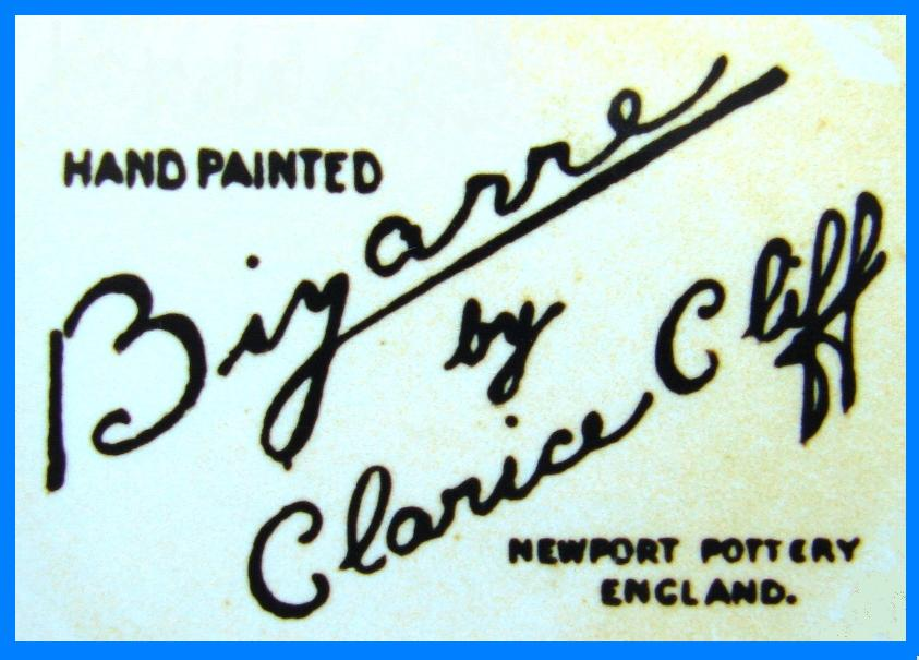 Clarice Cliff Bizarre Backstamp