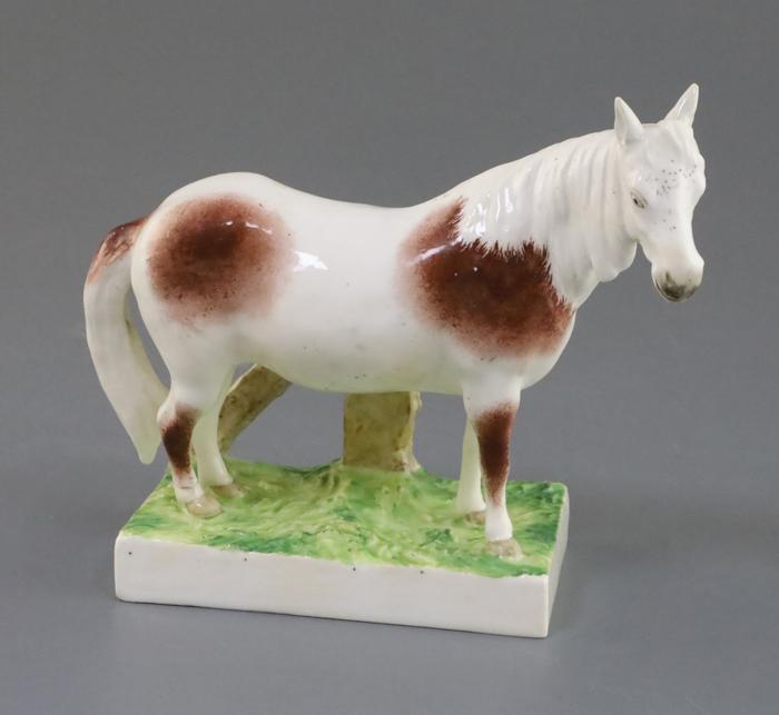 Rockingham porcelain figure of a pony, c.1830