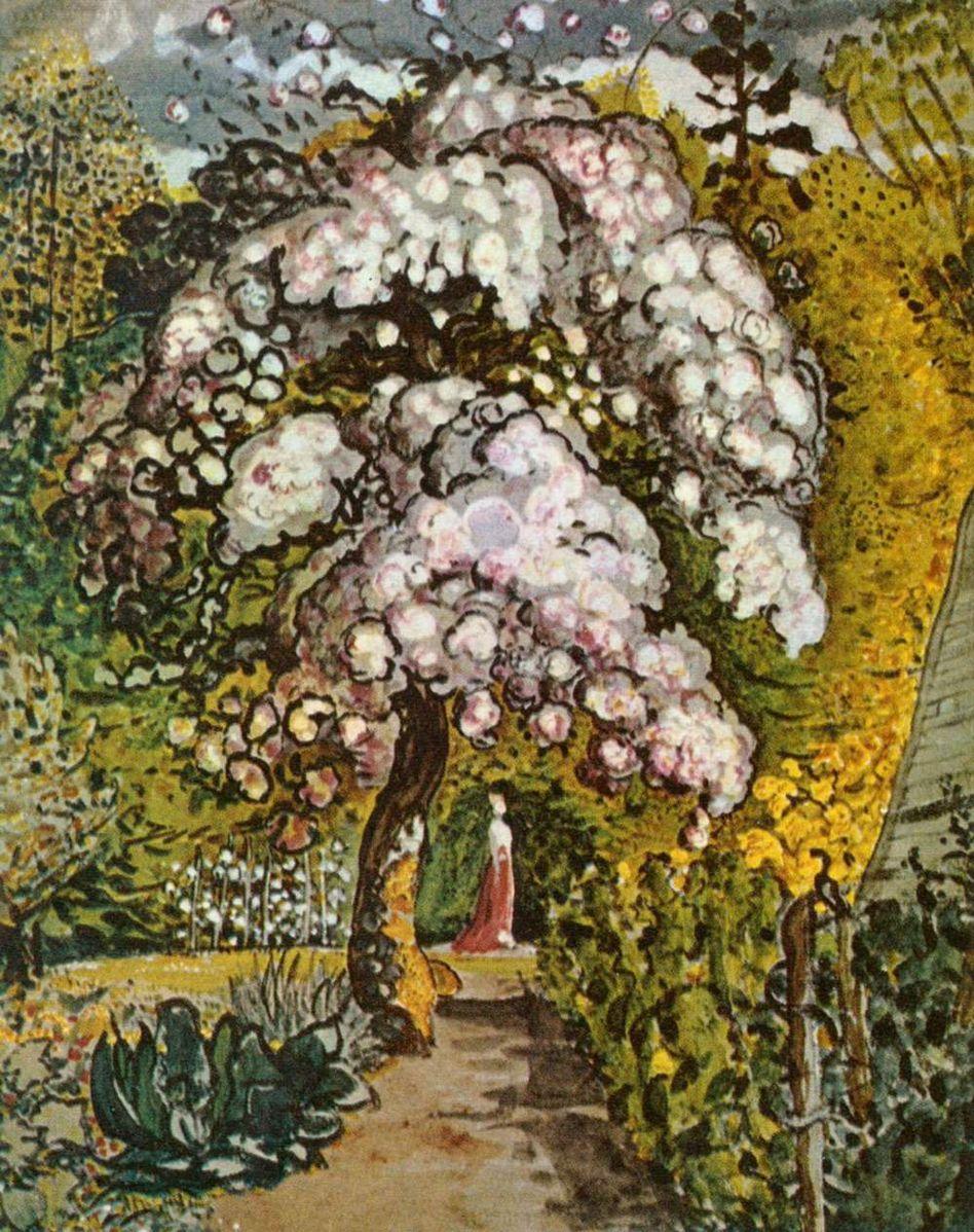 Samuel Palmer. In a Shoreham Garden. 1820s or early 1830s