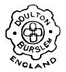 Royal Doulton stamp 1882-1902