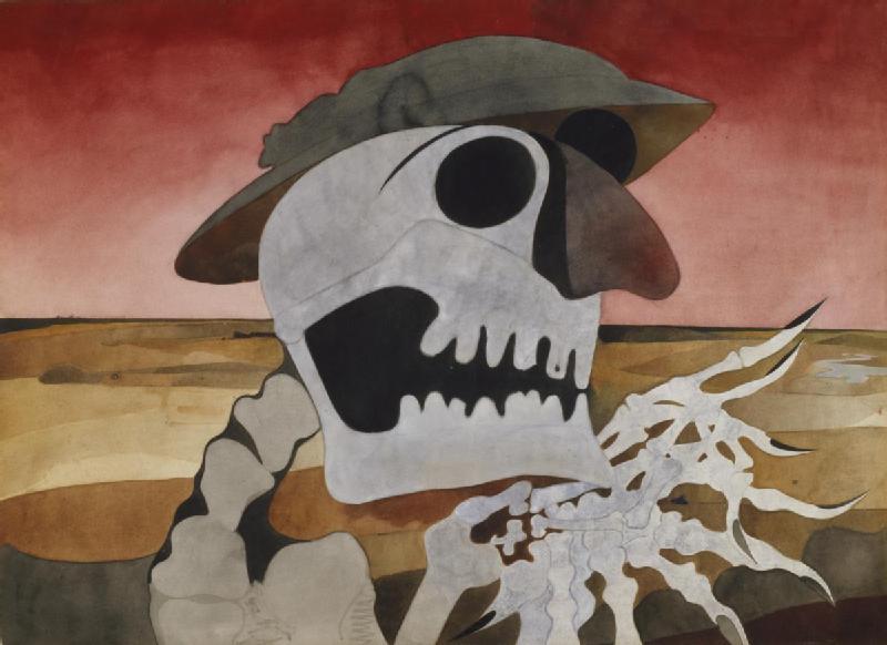 Edward Burra. Skull in a Landscape.