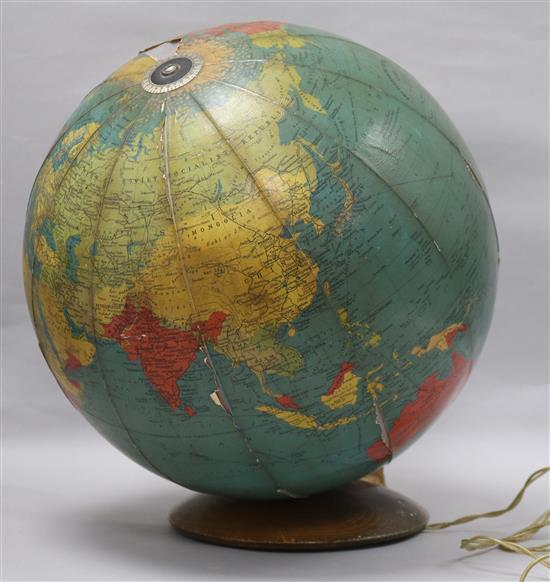 Encyclopedia Britannica Globe Lamp