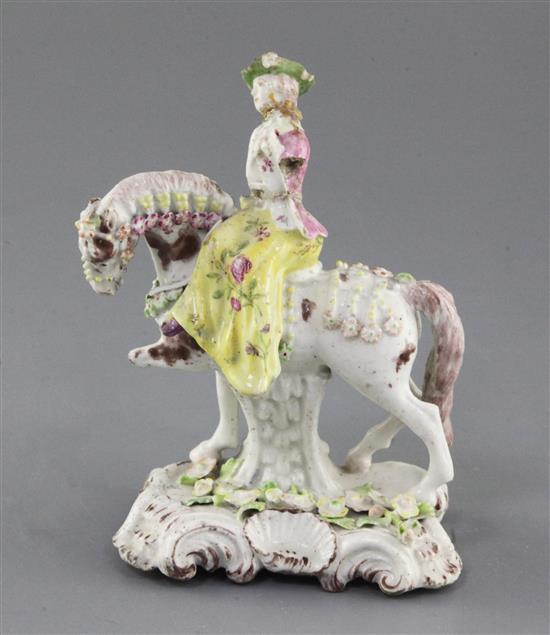 Derby Porcelain Girl on a Horse