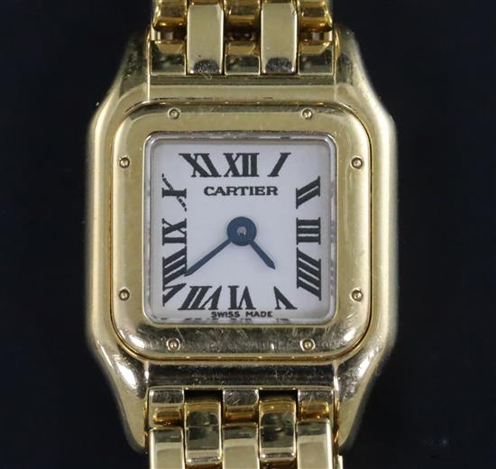 Lady's Modern Cartier 18ct Gold Mini Panthere Quartz Wristwatch