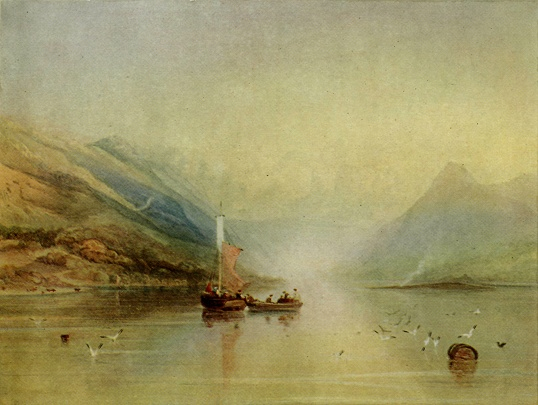 Copley Fielding. Lake Scene.