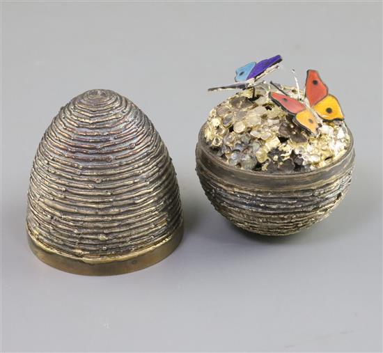 Stuart Devlin Silver Gilt Egg