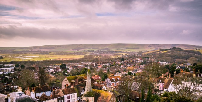 Lewes Rooftops by Darren Coleshill