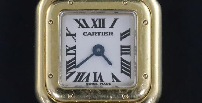 Lady's Modern Cartier 18ct Gold Mini Panthere Quartz Wristwatch