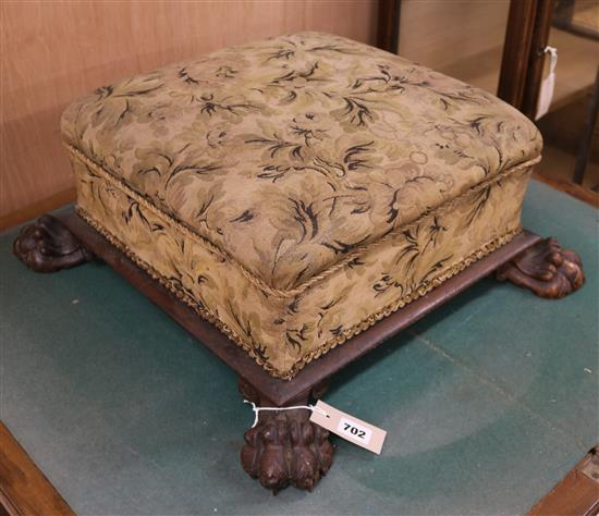 Victorian Square Topped Footstool