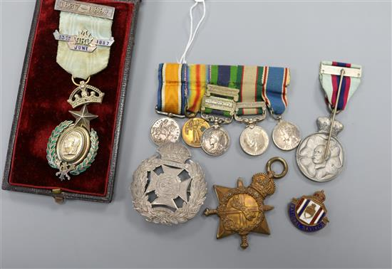 Set of miniature war medals